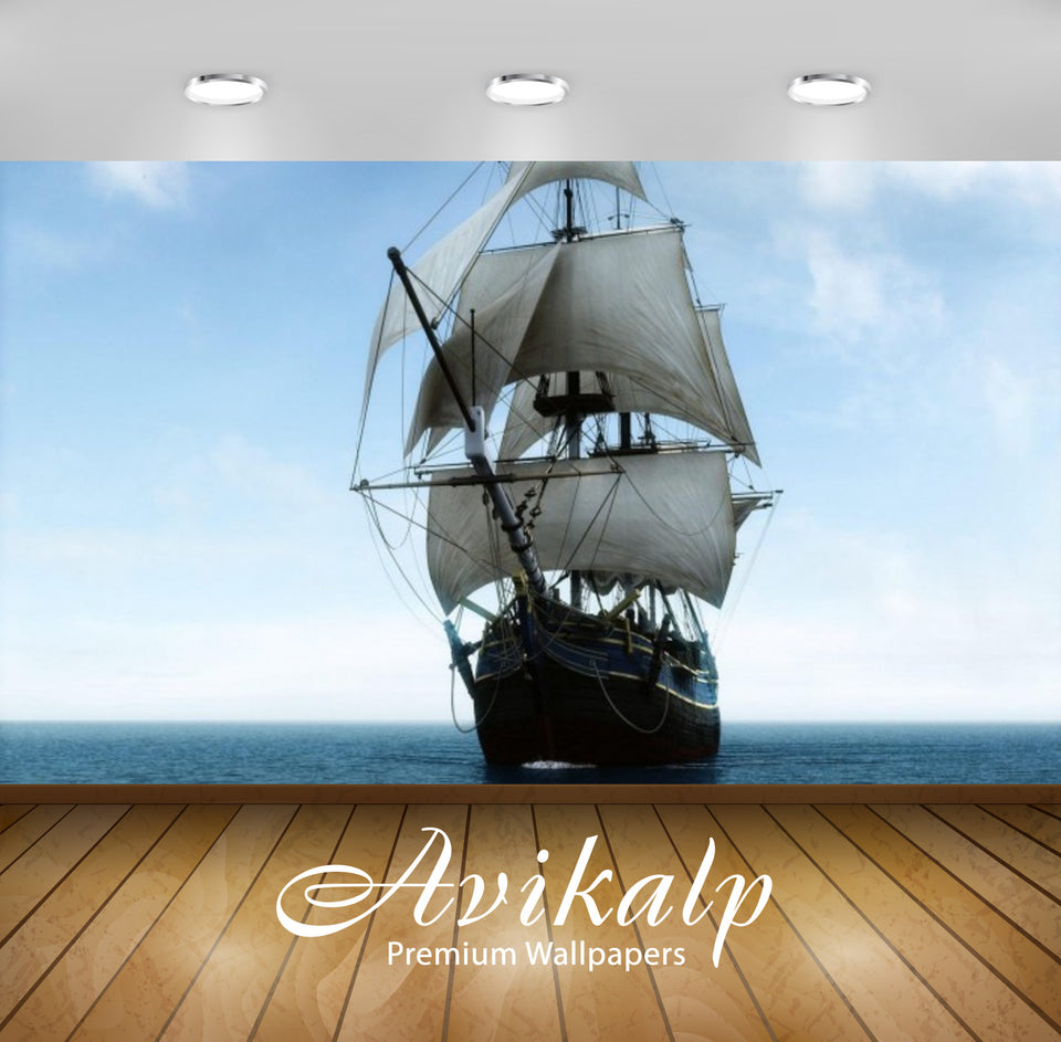 Avikalp Exclusive Awi2440 Big Sailing Ship Full HD Wallpapers for Living room, Hall, Kids Room, Kitc