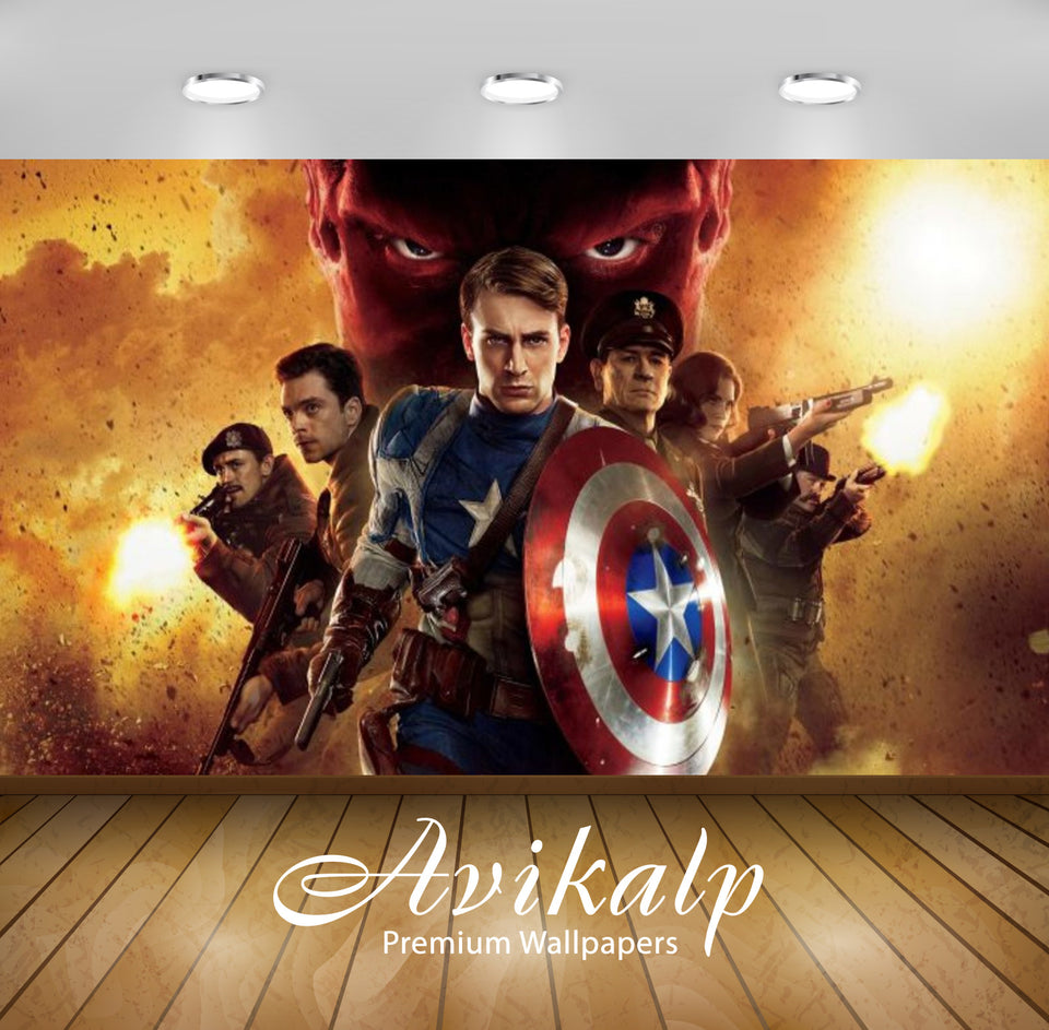 Avikalp Exclusive Awi2478 Captain America The First Avenger Movie Full HD Wallpapers for Living room