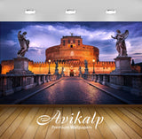 Avikalp Exclusive Awi2483 Castel Santangelo Is Towering Cylindrical Building In Parco Adriano Rome I