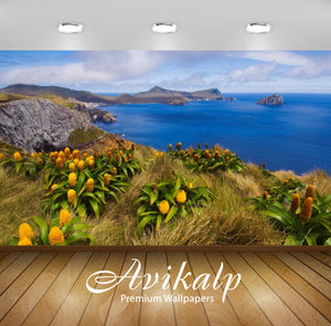 Avikalp Exclusive Awi2509 Coastal Flowers Oceans Nature Beach Full HD Wallpapers for Living room, Ha