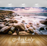 Avikalp Exclusive Awi2528 Cote Varberg Sweden Rocks Rocks Sea Waves Sky With Dark Clouds Full HD Wal