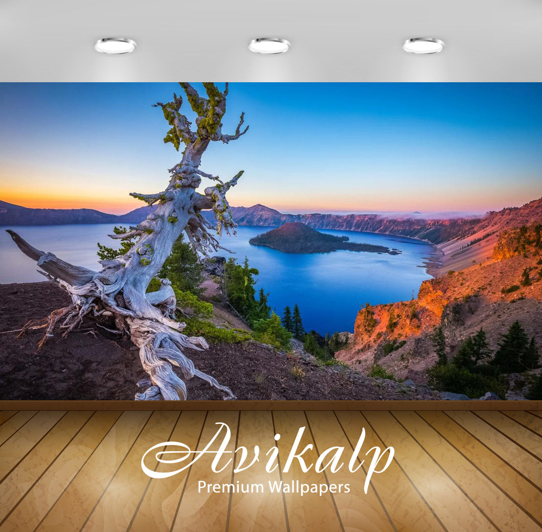 Avikalp Exclusive Awi2531 Crater Lake National Park Oregon Usa Full HD Wallpapers for Living room, H