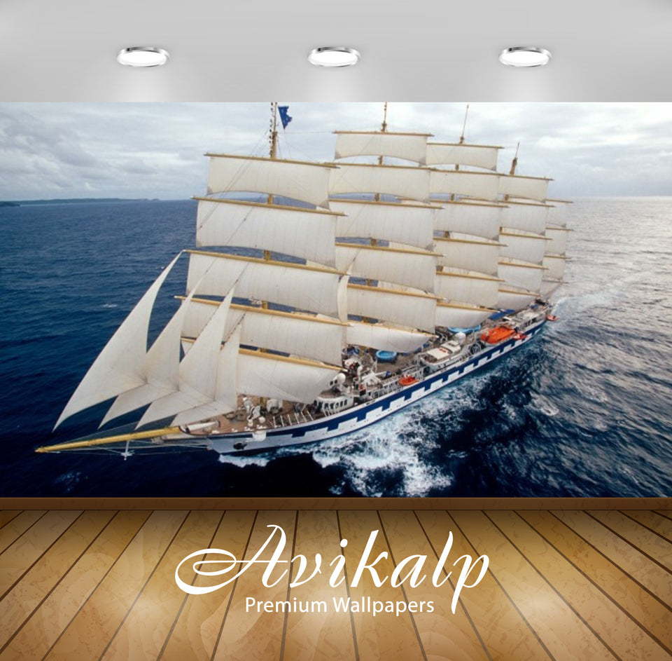 Avikalp Exclusive Awi2537 Cruising Royal Clipper Full HD Wallpapers for Living room, Hall, Kids Room