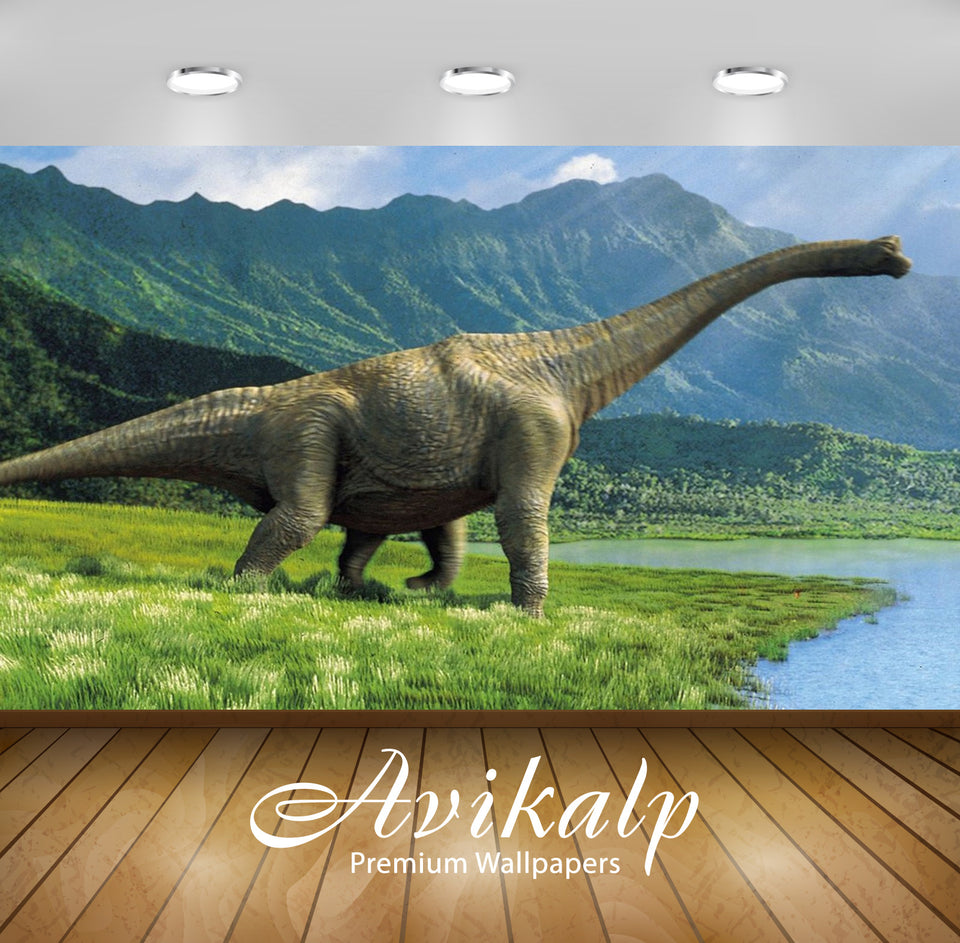 Avikalp Exclusive Awi2554 Dinosaur Full HD Wallpapers for Living room, Hall, Kids Room, Kitchen, TV