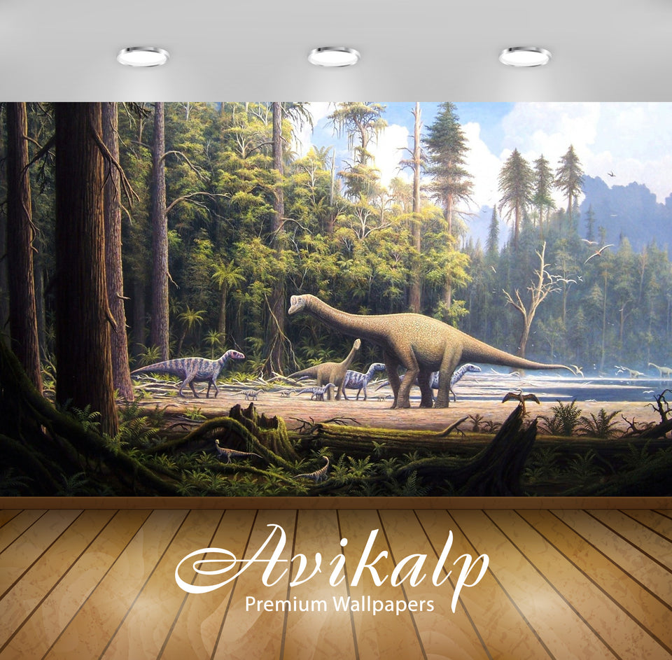 Avikalp Exclusive Awi2555 Dinosaurs Animals Of Past Full HD Wallpapers for Living room, Hall, Kids R