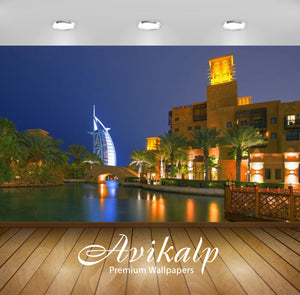 Avikalp Exclusive Awi2579 Dubai At Night Restaurants In Souk Madinat Jumeirah Dubai United Arab Emir