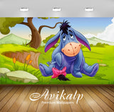 Avikalp Exclusive Awi2586 Eeyore Gray Donkey Winnie The Pooh Cartoons Full HD Wallpapers for Living