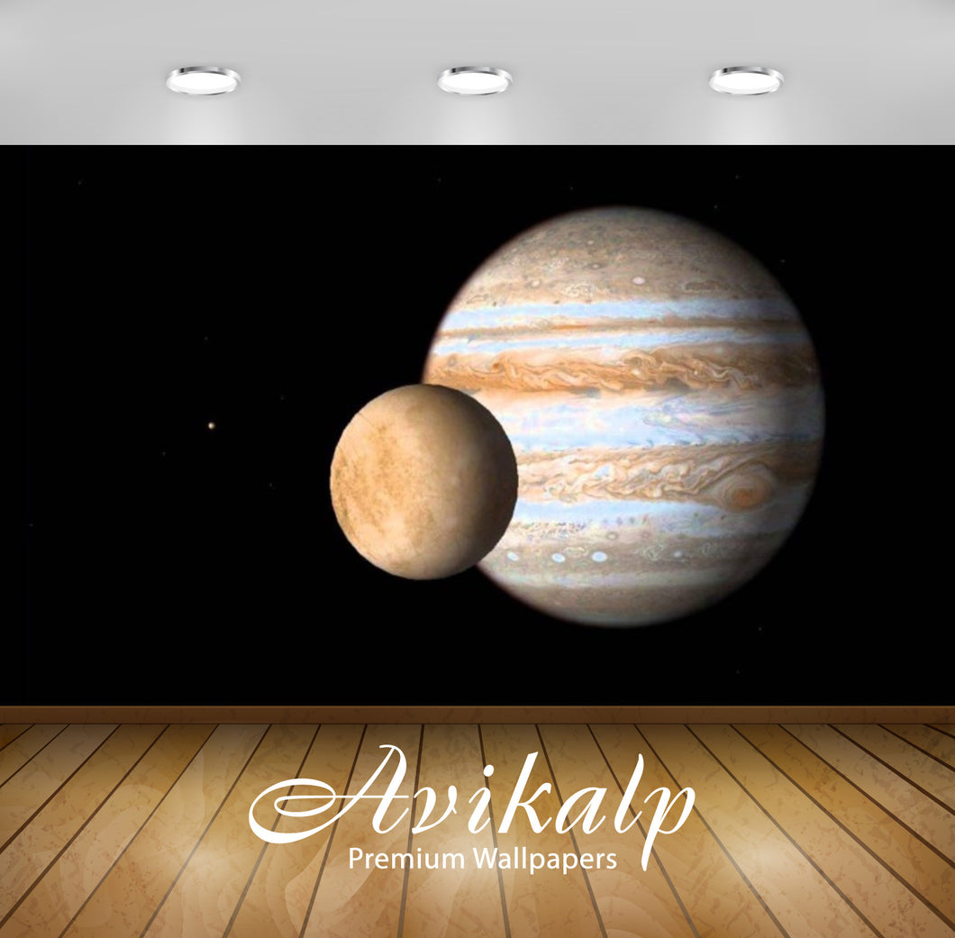 Avikalp Exclusive Awi2594 Europa Jupiter Full HD Wallpapers for Living room, Hall, Kids Room, Kitche