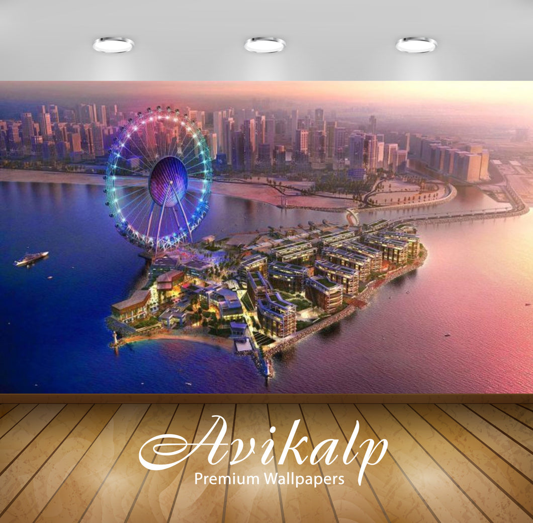Avikalp Exclusive Awi2598 Exotic View Of The Coast Ferris Wheel In Dubai United Arab Emirates Full H