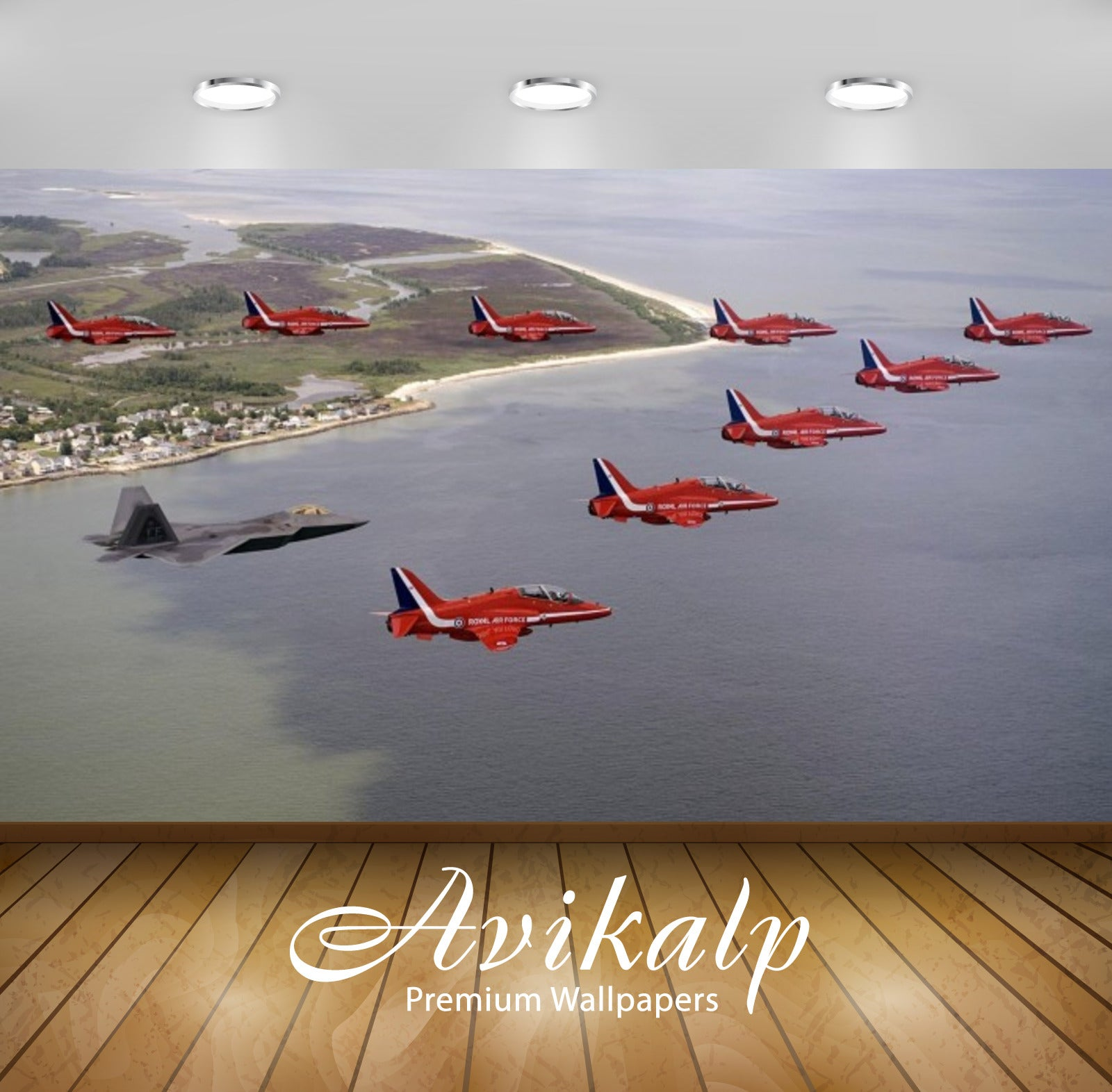 Avikalp Exclusive Awi2608 F 22 Raptor Red Aviation Aircraft Full