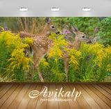 Avikalp Exclusive Awi2617 Fawns Full HD Wallpapers for Living room, Hall, Kids Room, Kitchen, TV Bac