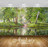 Avikalp Exclusive Awi2636 Forest Landscape Reflections Full HD Wallpapers for Living room, Hall, Kid