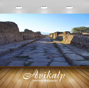 Avikalp Exclusive Premium pompeii HD Wallpapers for Living room, Hall, Kids Room, Kitchen, TV Backgr