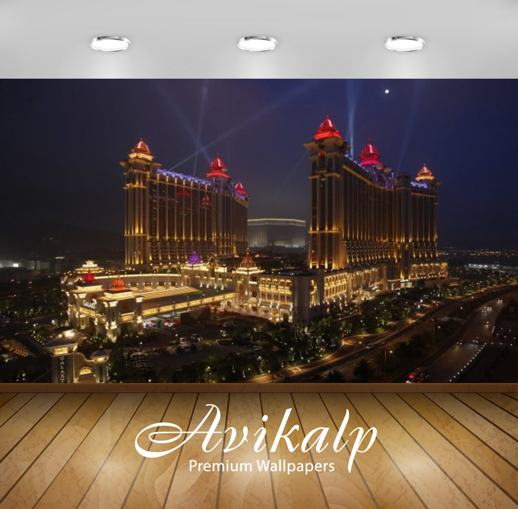 Avikalp Exclusive Awi2646 Galaxy Casino In Macau Hotel Resort Red Lights Full HD Wallpapers for Livi
