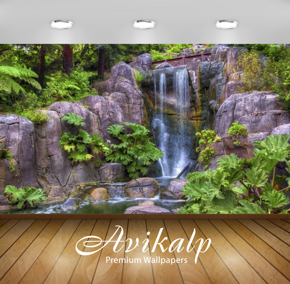 Avikalp Exclusive Awi2675 Golden Gate Park Strawberry Hill Waterfall San Francisco California Usa Fu