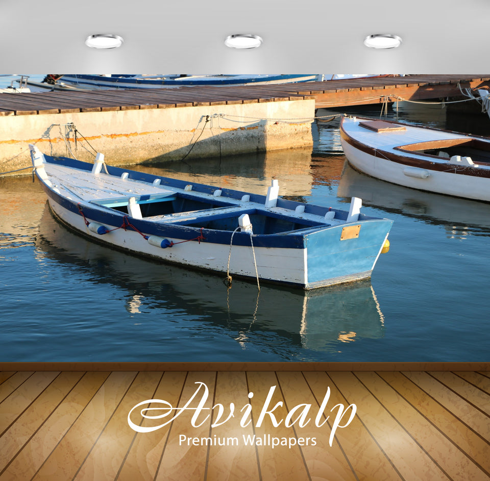 Avikalp Exclusive Premium boat HD Wallpapers for Living room, Hall, Kids Room, Kitchen, TV Backgroun