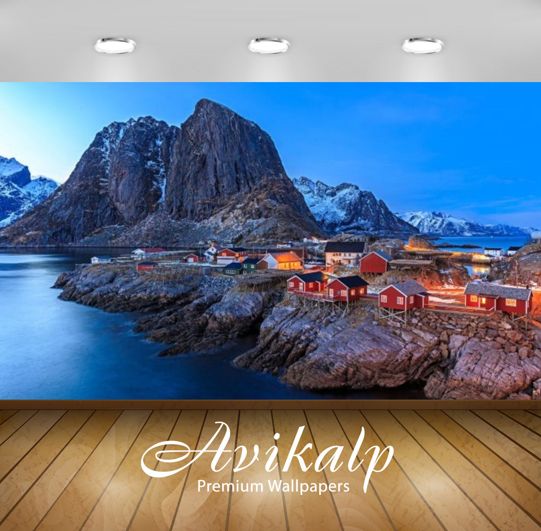 Avikalp Exclusive Awi2720 Hot Summer Adventures Lofoten Norway A Small Fishing Village On The Cliff