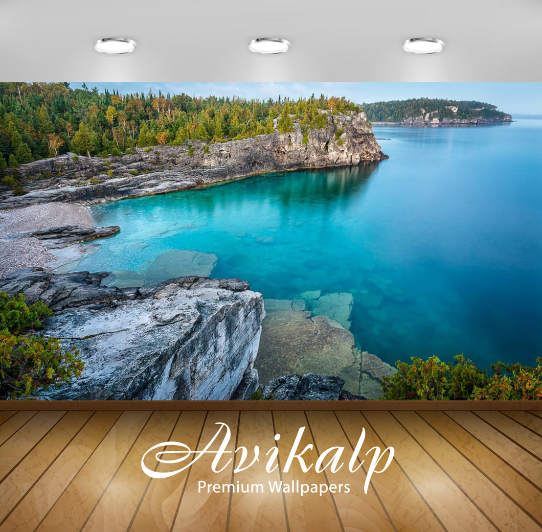 Avikalp Exclusive Awi2731 Indian Head Cove Bruce Peninsula National Park Ontario Full HD Wallpapers