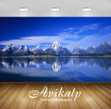 Avikalp Exclusive Awi2737 Jackson Lake In Wyoming Grand Teton National Park Usa Rocky Mountains Blue