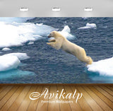 Avikalp Exclusive Awi2745 Jump On A White Polar Bear Floes Of Ice Snow Sea Full HD Wallpapers for Li