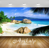 Avikalp Exclusive Awi2762 La Digue Seychelles Beach Waves Sea Full HD Wallpapers for Living room, Ha