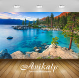 Avikalp Exclusive Awi2770 Lake Tahoe Rv Parks California Usa Blue Water Rocks Pine Trees Clear Sky S