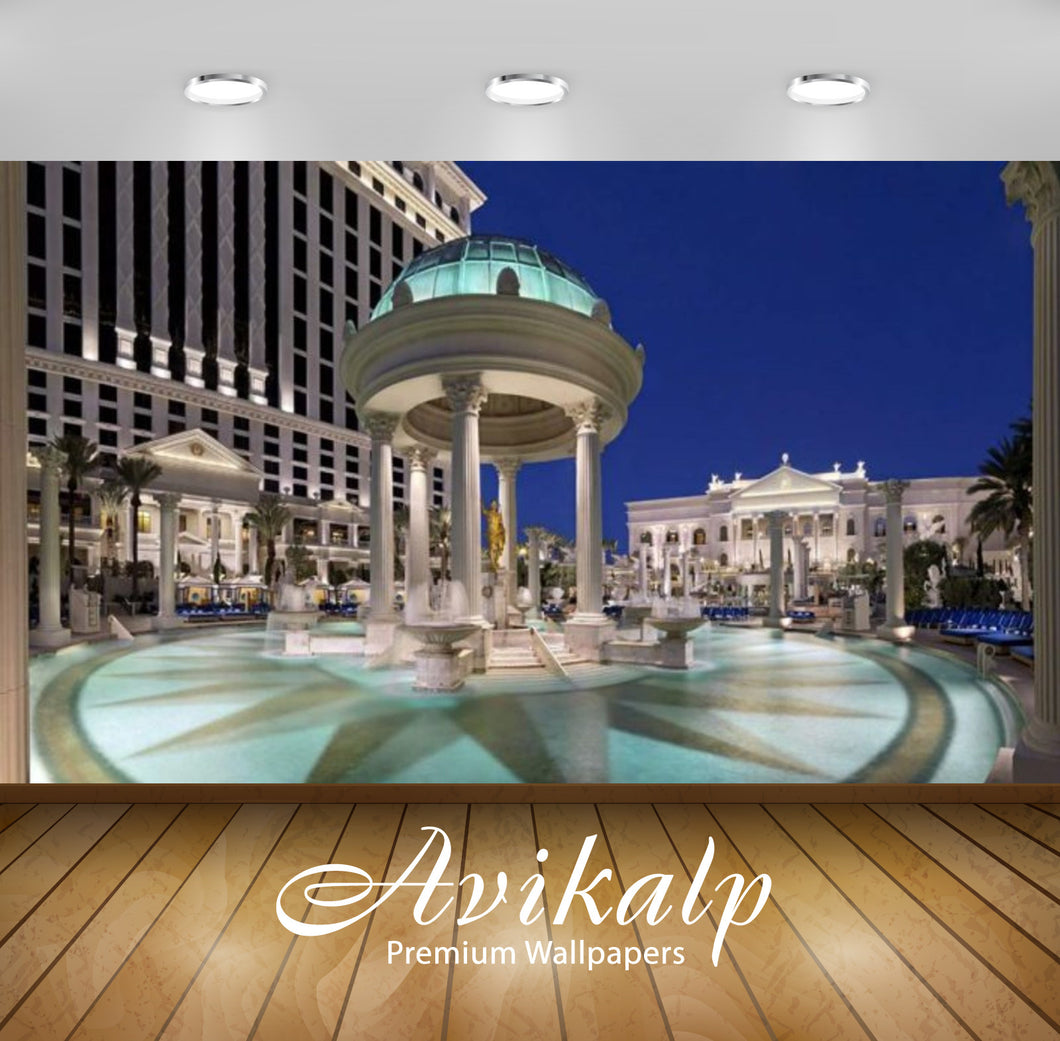 Avikalp Exclusive Awi2786 Las Vegas Nevada Caesars Palace Pool And Garden Of The Gods Full HD Wallpa