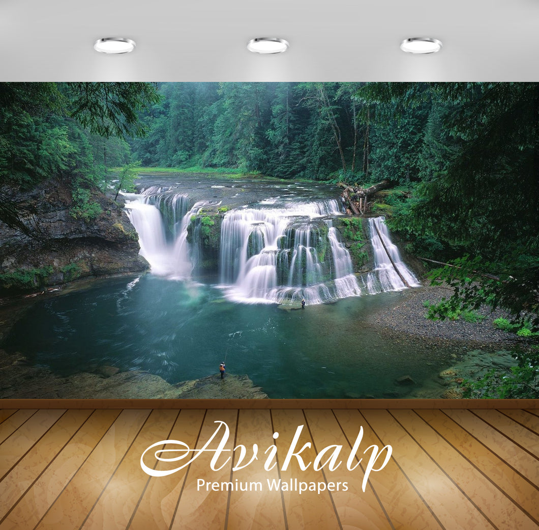 Avikalp Exclusive Awi2794 Lewis River Tributary In Washington Beautiful Waterfall Full HD Wallpapers