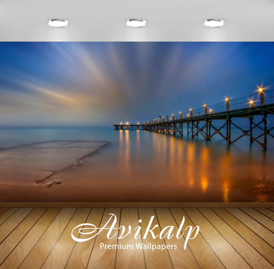 Avikalp Exclusive Awi2797 Littel Venice Resort Sokhna Egypt Blackout Bridge Reflection Of Night Ligh