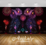 Avikalp Exclusive Awi2856 New Year Eve Fireworks In Australia Full HD Wallpapers for Living room, Ha