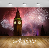 Avikalp Exclusive Awi2857 New Years Eve Fireworks Big Ben Clock In London Full HD Wallpapers for Liv