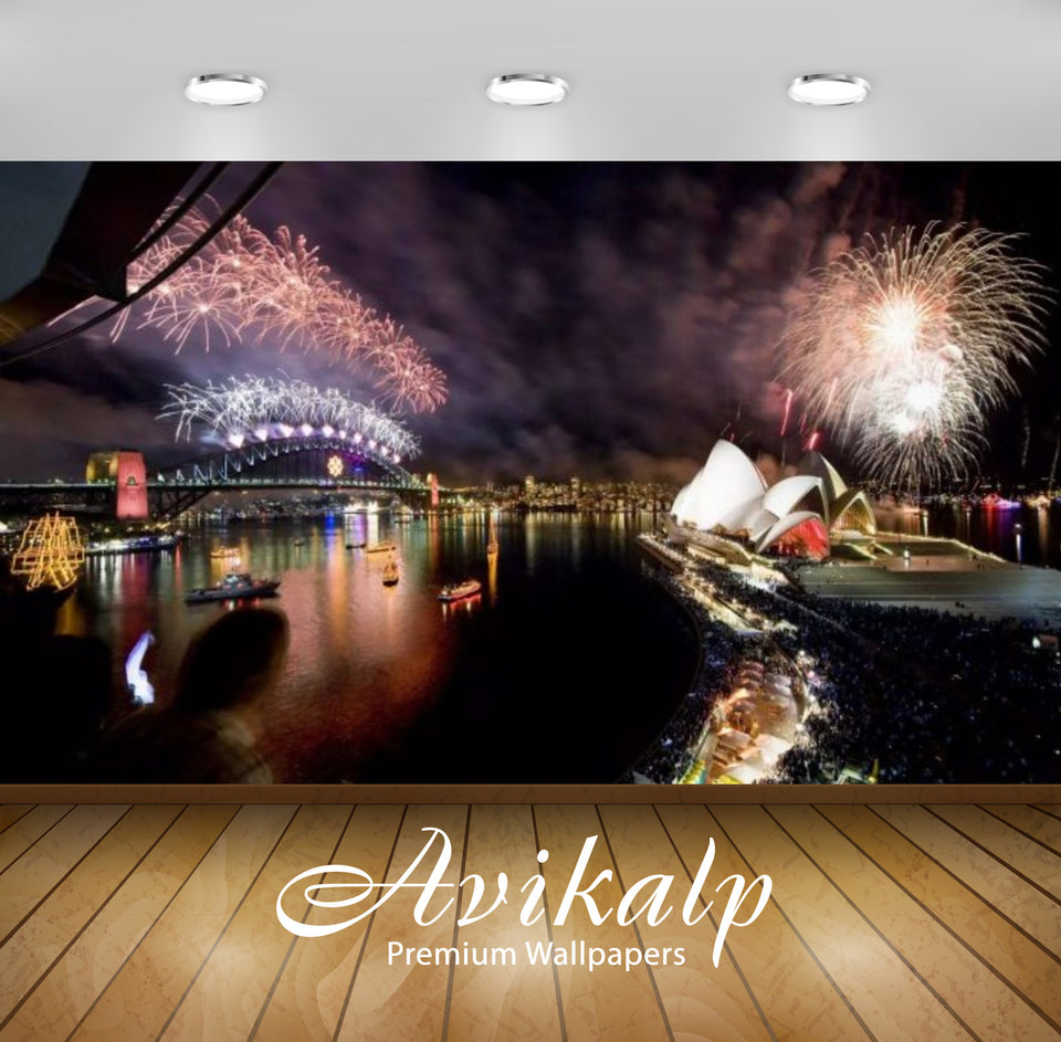 Avikalp Exclusive Awi2859 New Years Eve In Sydney Australia Opera House Celebration Fireworks Full H