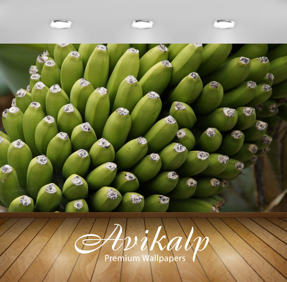 Avikalp Exclusive Premium bananas HD Wallpapers for Living room, Hall, Kids Room, Kitchen, TV Backgr
