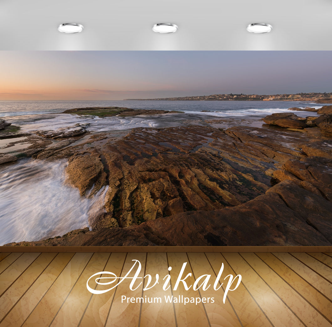 Avikalp Exclusive Premium seascape HD Wallpapers for Living room, Hall, Kids Room, Kitchen, TV Backg