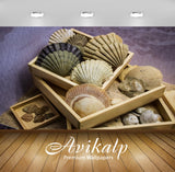 Avikalp Exclusive Premium shells HD Wallpapers for Living room, Hall, Kids Room, Kitchen, TV Backgro