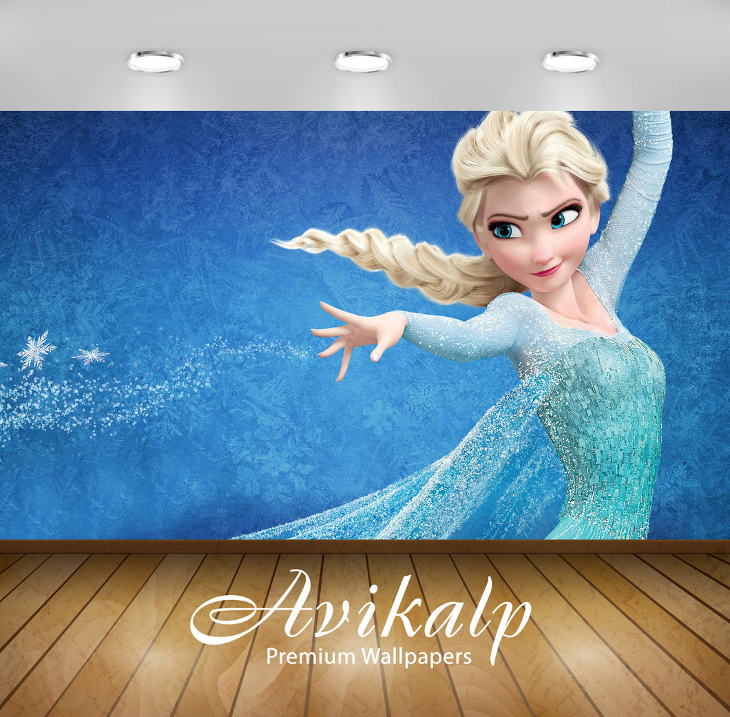 Avikalp Exclusive Awi3493 Elsa Frozen Cartoon Full HD Wallpapers for Living room, Hall, Kids Room, K
