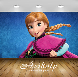 Avikalp Exclusive Awi3520 Anna Frozen Cartoon Full HD Wallpapers for Living room, Hall, Kids Room, K