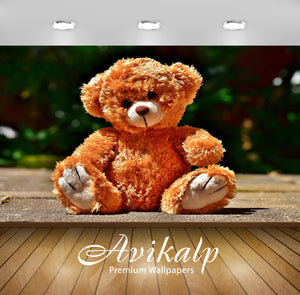 Avikalp Exclusive Premium teddy HD Wallpapers for Living room, Hall, Kids Room, Kitchen, TV Backgrou