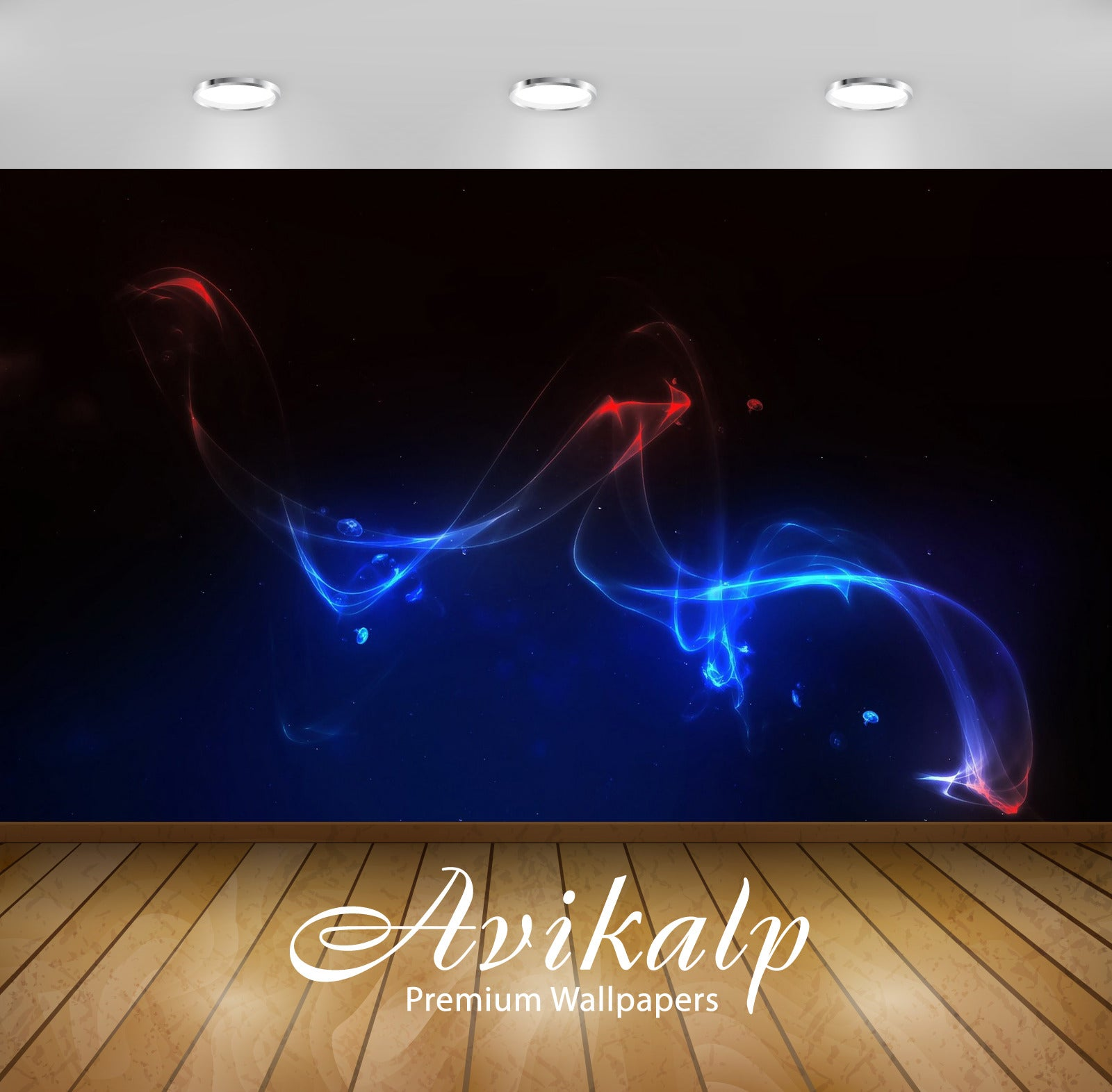 Avikalp Exclusive Awi4332 Fluorescent Smoke Full HD Wallpapers for Living room, Hall, Kids Room, Kit