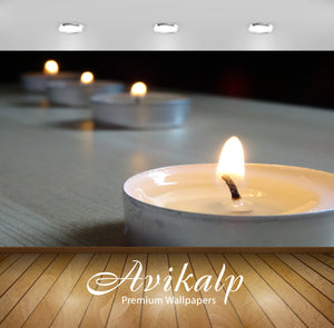 Avikalp Exclusive Premium candles HD Wallpapers for Living room, Hall, Kids Room, Kitchen, TV Backgr