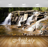 Avikalp Exclusive Awi4815 Landscape Waterfall Nature Mountain Full HD Wallpapers for Living room, Ha