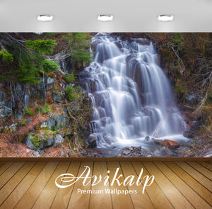 Avikalp Exclusive Awi5090 Amazing Waterfall Nature Full HD Wallpapers for Living room, Hall, Kids Ro