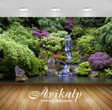 Avikalp Exclusive Awi5108 Artificial Waterfall In The Beautiful Garden Nature Full HD Wallpapers for