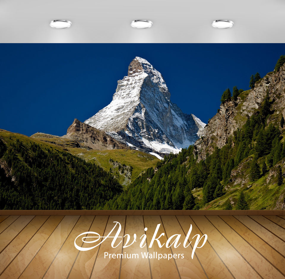 Avikalp Exclusive Awi5740 Matterhorn Nature Full HD Wallpapers for Living room, Hall, Kids Room, Kit