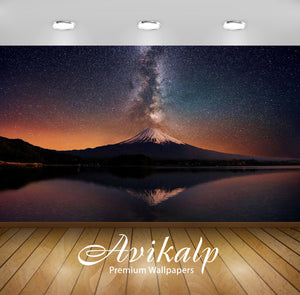Avikalp Exclusive Awi5793 Mount Fuji Nature Full HD Wallpapers for Living room, Hall, Kids Room, Kit