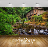 Avikalp Exclusive Awi6109 Rocky River In The Forest Nature Full HD Wallpapers for Living room, Hall,