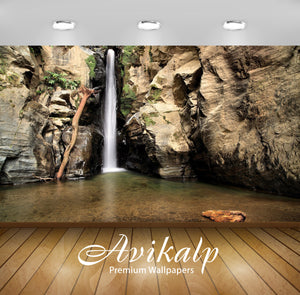 Avikalp Exclusive Awi6122 Rocky Waterfall Nature Full HD Wallpapers for Living room, Hall, Kids Room