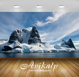 Avikalp Exclusive Awi6257 Snowy Cliff Nature Full HD Wallpapers for Living room, Hall, Kids Room, Ki