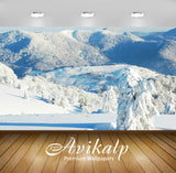 Avikalp Exclusive Awi6286 Snowy Mountains Nature Full HD Wallpapers for Living room, Hall, Kids Room