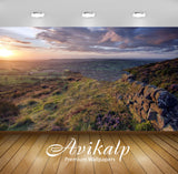 Avikalp Exclusive Awi6367 Stone Wall On The Hill Nature Full HD Wallpapers for Living room, Hall, Ki